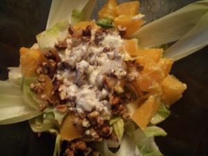 Salata de andive cu portocale si nuci